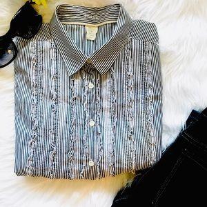 J. CREW 3/4 Sleeve Shirt - 6